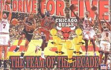 "1997 Chicago Bulls Champs Starline Poster OOP""The Drive For Five"" Jordan"