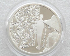 2000 Francia Millennio Yves Saint Laurent 10 dieci FRANCO IN ARGENTO PROOF COIN