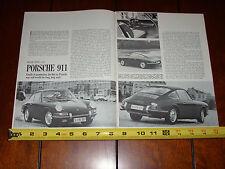1965 PORSCHE 911 - ORIGINAL VINTAGE ARTICLE