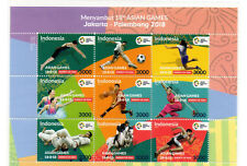 INDONESIA 2018-1 ASIAN GAMES SPORTS BLOCK STAMPS MNH