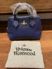 Vivienne Westwood Navy Blue Leather Bag BRAND NEW  rrp £495