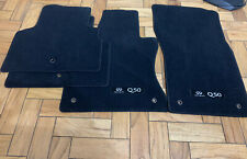 New OEM Infiniti 2014-2020 Q50 GENUINE Carpet Floor Mats (BLACK) G4900-4HB4 4pcs