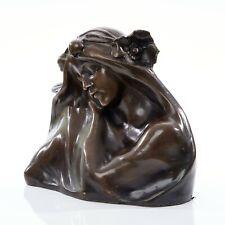 Bronze Bust of a female after Hans Muller, Classical sculpture. Art, Gift.