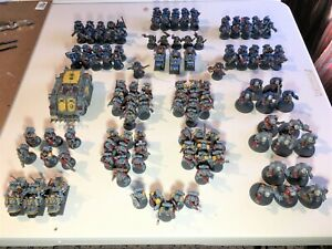 TWO Painted Classic Warhammer 40K Armies READY TO PLAY 130 figures OOP lot A21