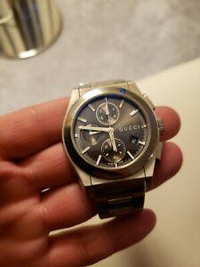 GUCCI Pantheon Automatic Chronograph Stainless Steel Watch YA115205