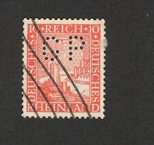 GERMANY REICH-Deutsches Reich-USED STAMP-PERFIN, PERFINS-1925.
