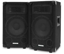 "2x MCGREY TP-8 DJ PA PASSIVE SPEAKER BOX 8"" SUBWOOFER DISCO SOUND SYSTEM 300W"