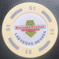 $1 Casino Chip - Boulder Station Casino Las Vegas Nevada