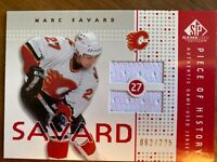 Marc Savard Calgary Flames SP Game Used 2002-03 Jersey Card # 62/225