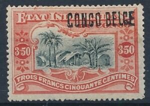 [7131] Belgium Congo 1909 good stamp very fine MH val $650. Locale OVPT. Sign