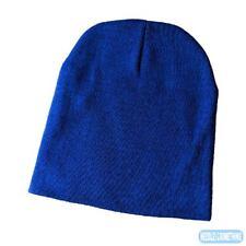"Blank Royal Blue Cotton Blend Knit 9"" Beanie"