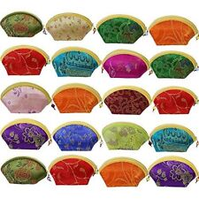 20pcs Chinese Silk Embroidered Brocade Gift Jewelry Coin Purse Pouch Set