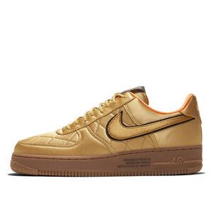 Nike Air Force 1 07 PRM Sneakers Shoes ORANGE GOLDEN  CU6724-777 Size 4-12