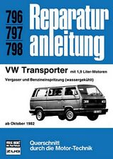 Reparaturanleitung VW T3 Transporter, Bus - 1,9 l Motor - ab Oktober 1982!