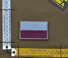 "Ricamata / Embroidered Patch ""Poland Flag Subdued"" with VELCRO® brand hook"