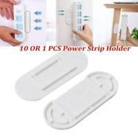 10X Patch Panel Holder Sticker Wall Mount Socket No Sticky Hook Punch Trace G1H4