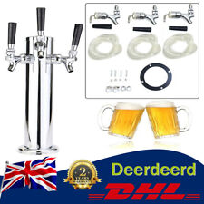 More details for 3 faucet beer tower triple faucet beer juice drinks dispenser stainless new
