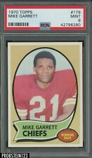 1970 Topps Football #179 Mike Garrett Kansas City Chiefs PSA 9 MINT