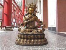 Tibet Buddhism Copper Bronze Gild Vajradhara Kwan-Yin Bodhisattva Buddha Statue