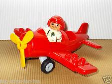 LEGO DUPLO~ROTER~HUBSCHRAUBER~FEUERWEHR~RETTUNG~MIT~PILOT~NEUES MODELL~5592 !