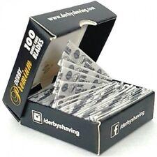 100 Derby Professional Premium Single Edge Razor Blades for Straight Razors