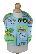 Baby Bibs (John Deere) Handmade Cotton/Terry