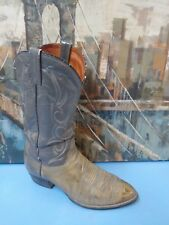 J Chisholm 0995 Leather Cowboy boots 11 EE  Gray