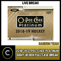 2018-19 O-PEE-CHEE PLATINUM HOCKEY 8 BOX (FULL CASE) BREAK #H291 - RANDOM TEAMS