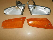 BMW E21 318i Front Indicator Lenses L + R with Bulb Socket Housings + Harnesses