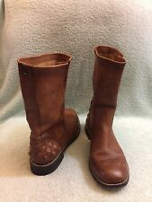 Diesel Leather Boots Brown Women's Boots Size 38/7.5