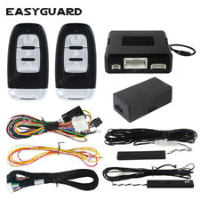Easyguard remote start compatible with factory Oem push start button car alarm