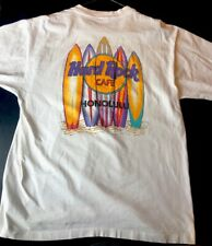 Vintage Hard Rock Cafe HONOLULU T-Shirt White Size Xl Rare Logo Single Stitch