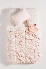 "Anthropologie Pink Rosettes Toddler Crib Quilt 39"" x 58"""