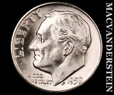 1959-D Roosevelt Dime-Choice Gem Brilliant Uncirculated Luster #P9693
