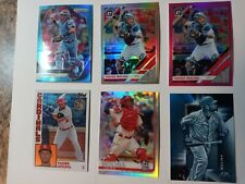 6- LOT YADIER MOLINA REFRACTOR PRIZM BLUE PINK TOPPS CHROME 84T FIRE BLUE FROST