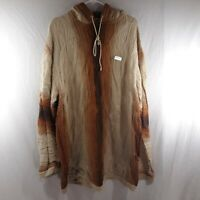 COOGI Men's 2XL Brown/Tan Hoody Vintage