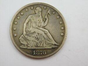 1876 SEATED HALF DOLLAR NICE DATE 50C Fine/ Very Fine (C15/29)