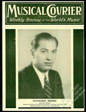 1934 Leonard Shure pianist photo Musical Courier framing cover