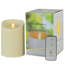 Luminara OUTDOOR Waterproof Moving Wick Unscented Moving Flame Led Candle