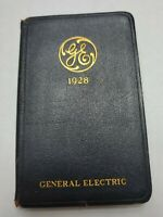 Antique Vintage General Electric GE 1928 Leather Pocket Diary Book Ephemera
