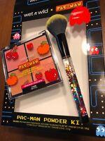 Wet n Wild X PAC-MAN Waka Waka Waka Powder Brush & High Score Blush Palette- New