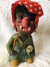 VTG 1960s GERMANY BOBBLEHEAD Nodder Bobble Head Heico Wicked Witch W/Broom EUC