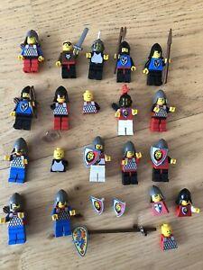 lego minifigures lot Castle Knights Wolfpack Lion Weapons Shields Helmets