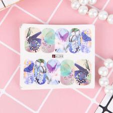 12X water transfer nail stickers decal diy butterfly art fingernail decorationPL