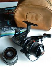 Shimano 3500 Triton Sea Spin Baitrunner, spare spool, leather reel case, booklet