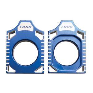 Tusk Aluminum Axle Blocks Blue Block YAMAHA YZ250F 2009-2011 YZ450F 2009