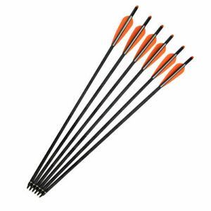 16-22 inch Crossbow Bolts Carbon Arrows Archery Target Hunting Shooting 6 pieces