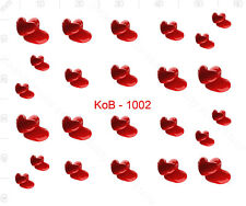 Nail Art Water Transfer Sticker Decal Stickers Pretty 3D Heart Red KoB-1002