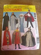 """PATRON  """"McCALL'S COSTUMES  CAPE/TUNIQUE/CHAPEAU S/M/L/XL N° 2853"""
