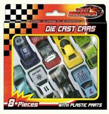 Street Machines Die Cast Free Wheel Cars - Pack of 8